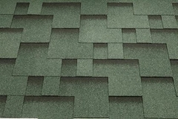 Bitumen roof shingles Super Rocky forest green Bitumen roof shingles (tiles)