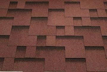 Bitumen roof shingles Super Rocky red Bitumen roof shingles (tiles)