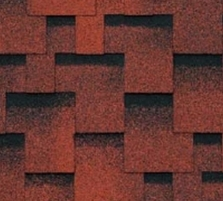 Bitumen roof shingles AKORDAS PRAGA, red Bitumen roof shingles (tiles)