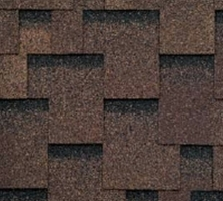 Bitumen roof shingles AKORDAS PRAGA, brown