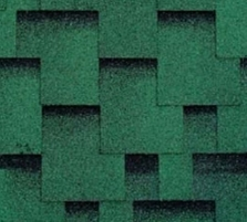 Bitumen roof shingles AKORDAS PRAGA, green Bitumen roof shingles (tiles)