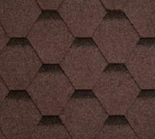 Bitumen roof shingles SONATA KADRILIS, brown