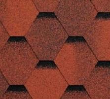 Bituminės čerpės SONATA VERSALLES, raudona