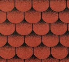 Bitumen roof shingles TANGO SUPER, red with shadow