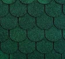 Bitumen roof shingles TANGO SUPER, green