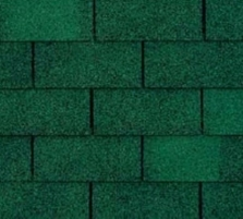 Bitumen roof shingles TRIO SUPER, green Bitumen roof shingles (tiles)