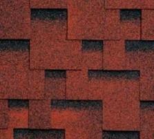Bituminės lanksčiosios čerpės AKORDAS DŽAIVAS, raudona Bituminės čerpelės