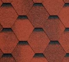 Bituminės lanksčiosios čerpės SONATA SAMBA, raudona Bituminės čerpelės
