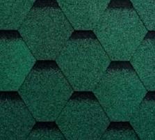 Bituminės lanksčiosios čerpės SONATA SAMBA, žalia Bituminės čerpelės