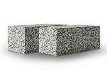 Ceramsite blocks 'Fibo', 490x185x100 mm. Ceramsite blocks