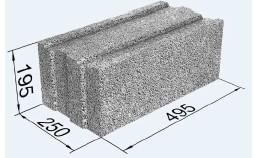 Blokai 'Fibo PLIUS', 495x195x250 Keramzitiniai blokeliai