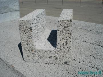 Ceramsite blocks 'Fibo' U-tipo, 200 mm Ceramsite blocks