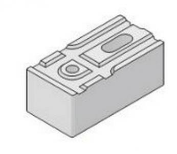 Blokas 'Fibo PLIUS', 495x195x250, kampinis Keramzitiniai blokeliai