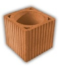 Ceramic ventilation ducts block BVt20-2-q16 Ceramic blocks