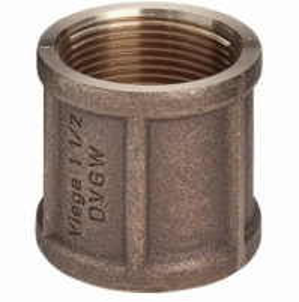 Bronzinė mova VIEGA, d 1/2'', vidus-vidus Nav pārklāti ar bronzas uzmavas
