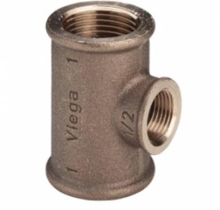 Bronzinis pereinamas trišakis VIEGA, d 1''-3/4''-1'' Bronziniai nepadengti trišakiai