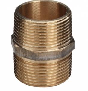 Bronzinis sujungimas VIEGA, d 3/4'', išorė-išorė Bronziniai nepadengti nipeliai