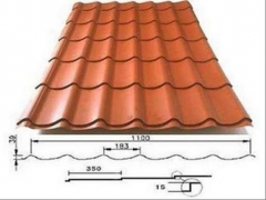 Tile effect steel roof Spekt (colored polyester) Profile tile tin sheets