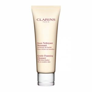 Clarins Gentle Foaming Cleanser Dry Skin Cosmetic 125ml Veido valymo priemonės