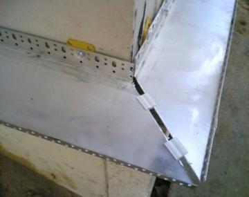 Cokolinis profilis U 50 L-2,5m (0.8mm) Mezzanine profiles, aluminium