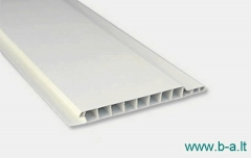Dailylentės plastikinės 2700x100x10 mm baltos Apšuvums (vinila fiberboard, koksne)