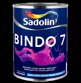 Dažai latekso Bindo 7 BW balti matiniai 2,5ltr.(kiaušinio lukšo blizgesys) Emulsiniai dažai