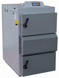 Dujų generacinis kieto kuro katilas VIGAS 25S (5-35 kW) D.P. AK3000 Tradicionālā cietā kurināmā apkures katli