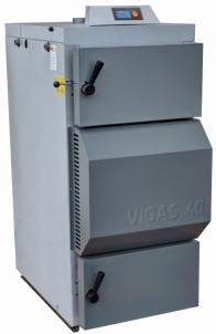 Dujų generacinis kieto kuro katilas VIGAS 40S (8-41 kW) D.P. AK3000 Tradicionālā cietā kurināmā apkures katli