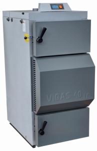 Dujų generacinis kieto kuro katilas VIGAS 40S (8-41 kW) K.P. AK3000 su Lambda zondu A traditional solid fuel boilers