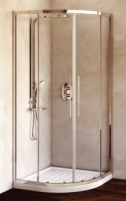Shower enclosures IDEAL STANDARD Kubo 90 cm, pusapvalė, profilis chromas, glass clear