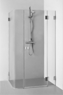Dušo kabina REGINA PLIUS 1100x900x1900 skaidrus stiklas Dušas kabīnes