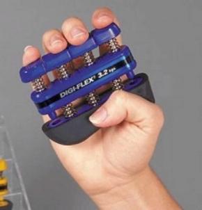 Espanderinis pirštų treniruoklis 'Digi-Flex' (mėlynas) Izmantot rīkus