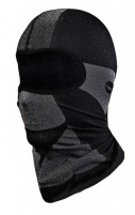 Gaubtas- kaukė veidui, besiūlis Terminis Balaclava Hi-Tec juodai- pilkas Galvos apdangalai