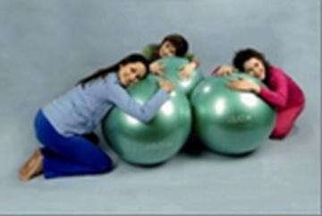 Gymnic terapinis kamuolys  65cm, žalias