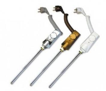 Heatpol reguliuojamas šildymo elementas gyvatukams, 300 W, aukso spalva Elektriskie dvieļu turētāji ar savienojumiem