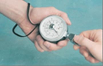 Hidraulinis pirštų sugnybimo jėgos matuoklis Funkcionālā pasākuma novērtējums