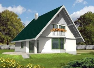 Individual house project 'Hilda (su garažu)'