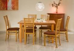 Išskleidžiamas stalas EMIL Mediniai valgomojo stalai