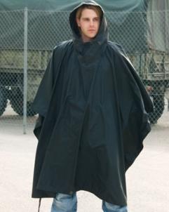 Juodas pončas Rip-Stop Mil-Tec Vokietija Speciālie apģērbi