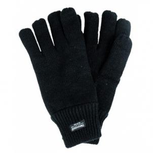 Juodos žieminės pirštuotos pirštinės Thinsulate Tactical gloves