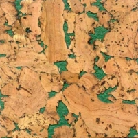 Cork wall coverings NEVADA GREEN 300x600 mm. Cork coating