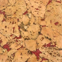 Cork wall coverings NEVADA RED 300x600 mm. Cork coating