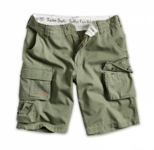 Kareiviški vyriški šortai Surplus Trooper shorts washed olive