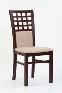 Kėdė GERARD 3 (tamsus riešutas) Medinės valgomojo kėdės