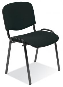 Biuro kėdė lankytojui ISO juoda C-11 Biuro kėdės