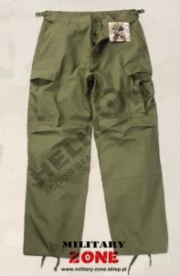 Kelnės BDU Helikon kareiviškos alyvuogių spalvos maskuotė