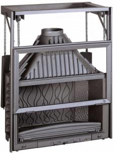 Ketinis židininio ugniakuras Invicta 900 | su kontrsvoriais pakeliamu stiklu LO Židiniai, pirties krosnelės