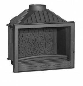 Ketinis židininio ugniakuras Invicta Compakt | su tiesiu stiklu Kamīns, pirts krāsnis