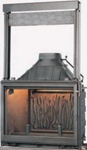 Ketinis židinio ugniakuras Seguin Europa 7 su pakeliamu stiklu 13-21 kW Židiniai, pirties krosnelės
