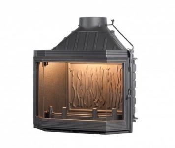 Ketinis židinio ugniakuras Seguin Hexa 7 | su prizminiu stiklu Židiniai, pirties krosnelės